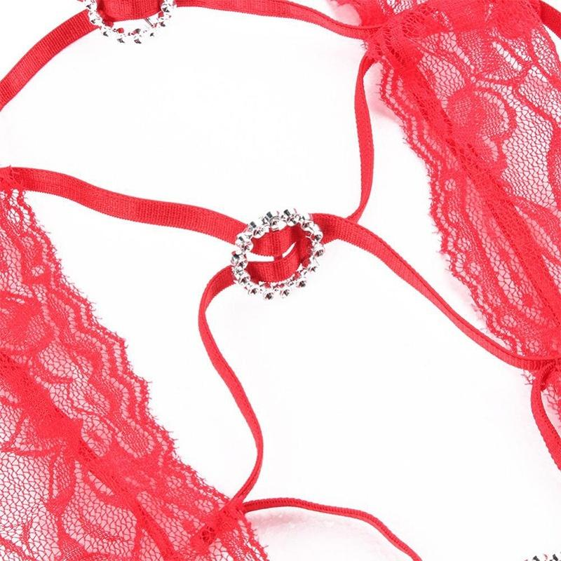Women New Sexy intimates Lingerie Erotic Costumes Three Temptation Lenceria Transparent Sexy Underwear