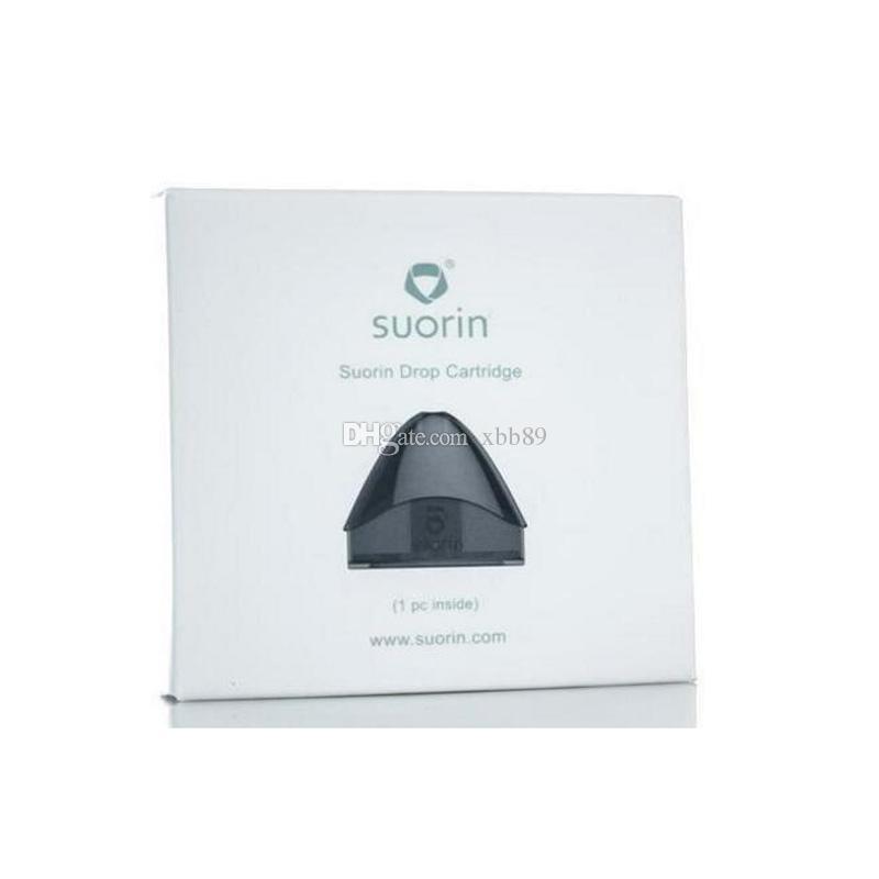 Аутентичные Suorin Drop Картридж Стручки 2 мл Уникальная головка катушки vape pods Идеально подходит для Suorin Drop Starter Kit 100% Оригинал DHL Бесплатная доставка