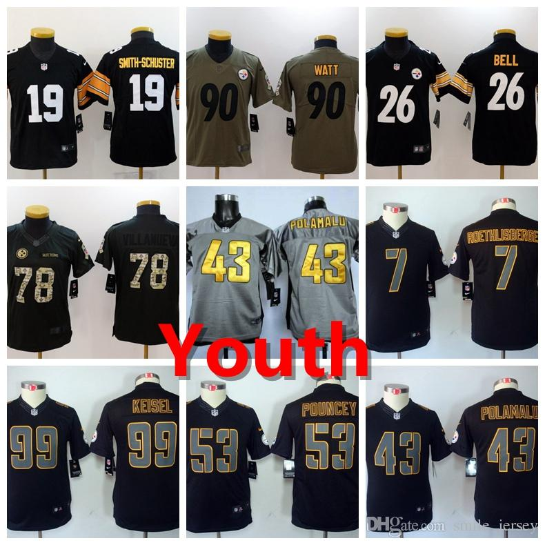 caebe129dac 2019 Youth 53 Maurkice Pouncey Pittsburgh Jersey Steelers Kids ...