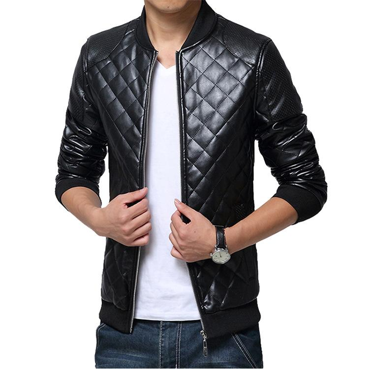 2019 Mens Leisure Leather Jacket Clearance Jacket Young Men Slim Fit