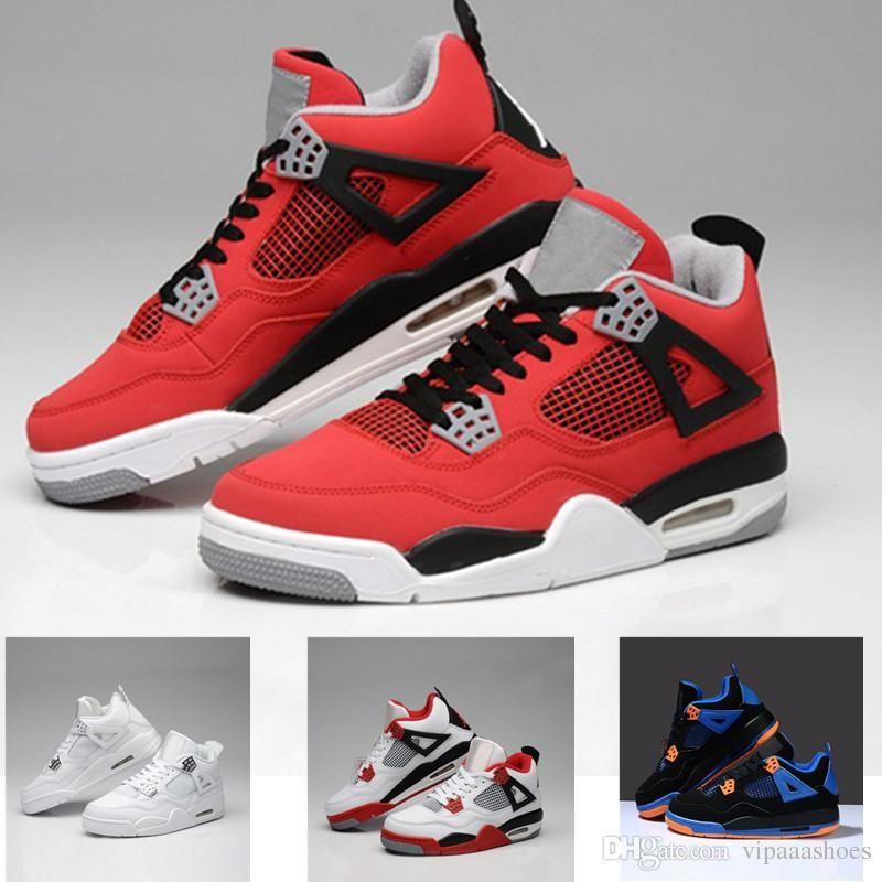 competitive price ecc6f a9492 Nike Air Jordan Nike Air Max Vans Nmd Supes De Alta Calidad, Zapatos De  Baloncesto, Corte Alto, Hombres, Mujeres 4s, Dinero Puro, Blanco, Cemento,  Cemento, ...