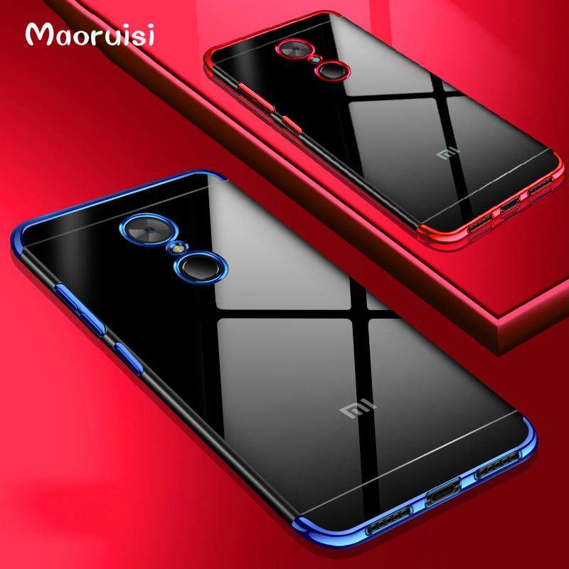 online store f0fb6 cc651 Maoruisi Case For Redmi 5 Plus Luxury Laser Plating Transparent Soft Clear  Back Cover For Xiaomi Redmi 5 Plus Redmi5 Phone Cases