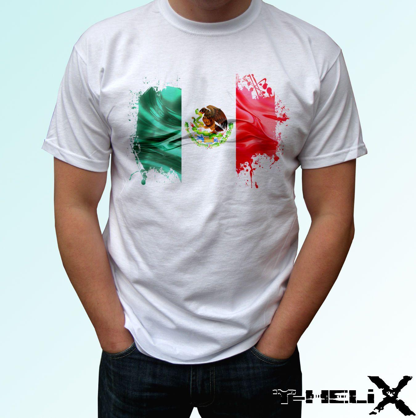 def5cc3e5bd36 Compre México Camiseta Blanca Bandera Diseño De La Parte Superior Del País  Hombre Mujer Niños Bebé A  12.05 Del Yg09tshirt