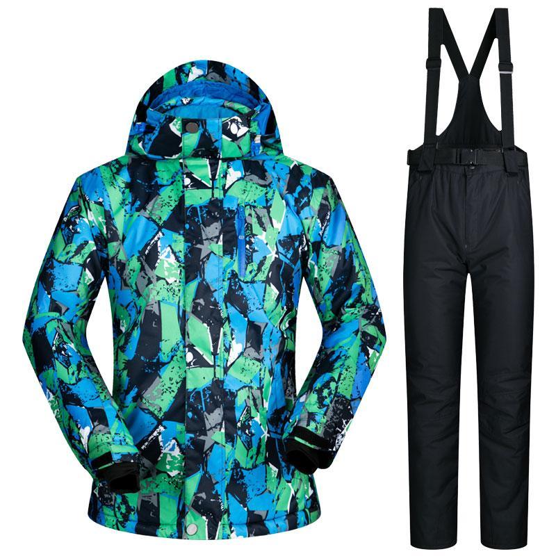 Herren Skianzüge Wasserdicht Winddicht Ski Snowboard Jacke Hosen Set Super Warm Snow Jacke Herren Snowboard Bekleidung