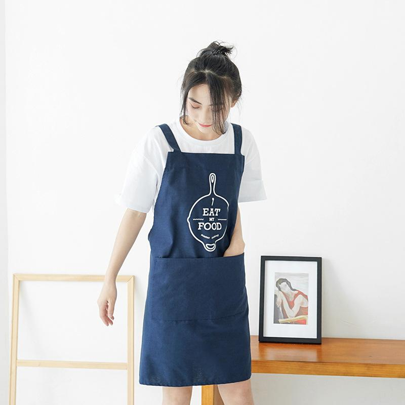 Nordic Style Apron Outsides Bbq Senior Green Bib Kitchen Cleaning ...