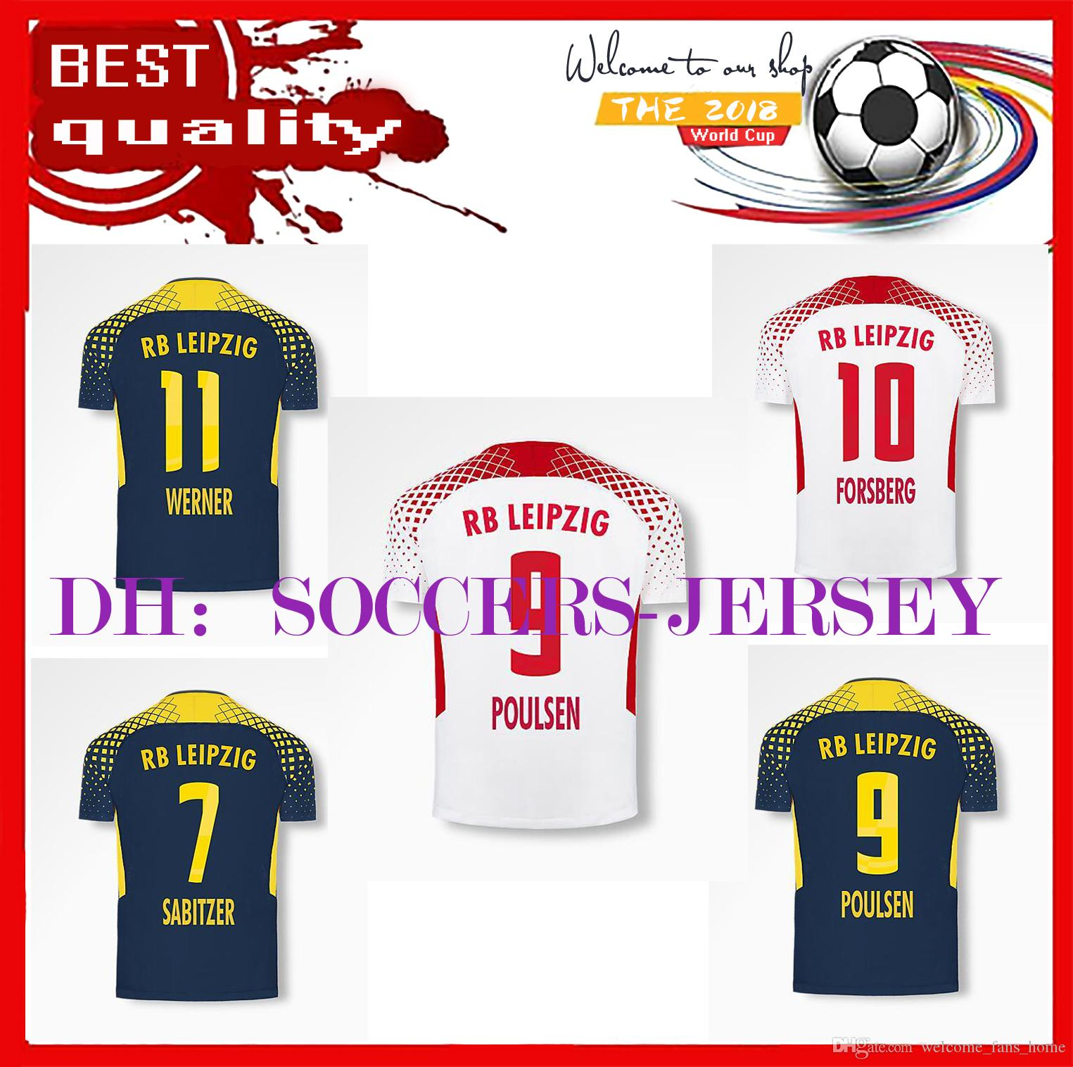 2017/18 RB LEIPZIG KEITA WERNER POULSEN CAMISETAS FUTBOL thai quality football jersey thailand football jerseys footbal jerseys uniforms