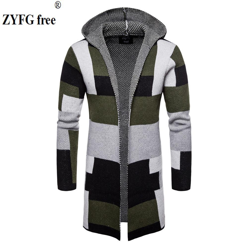 Compre 2018 Hombres Suéter De Invierno De Moda Estilo Coreano De Manga  Larga Para Hombre Cardigan Sweater Slim Fit Casual Suéter Con Capucha  Prendas De ... 54a947b43ec5