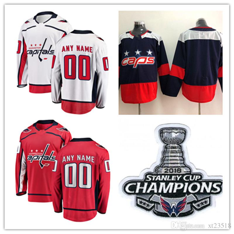 456ac3a54 Custom Washington Capitals 2018 Stanley Cup Champions Jersey Dale Hunter  Brian Pinho Travis Boyd Lars Eller Washington Capitals Jerseys S 3X UK 2019  From ...
