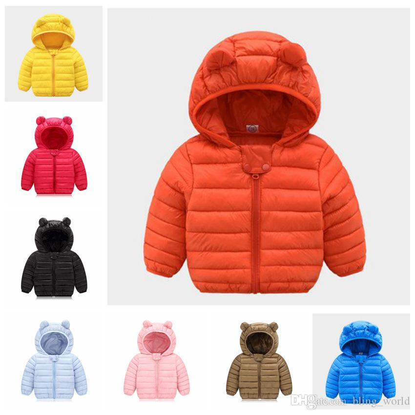5f4efafc6 Winter Warm Hooded Coat Children's Outerwear Children Cotton-Padded Down  Jacket Kid Jackets Clothes 8 Colors Optional LDH215