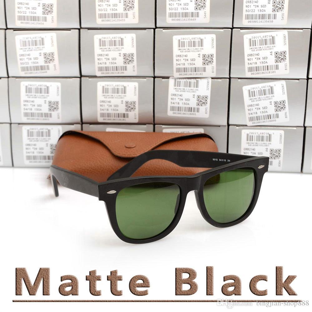 2d7c251a08d6 New Matte Black Sunglasses Mens Sun Glasses Glass Lens Plank ...