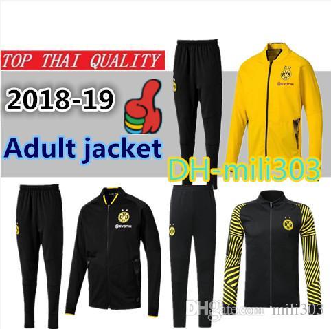 Compre 18 19 Borussia Dortmund Chándal De Manga Larga Conjunto De Chaqueta  2018 2019 REUS PULISIC M.GOTZE Traje De Entrenamiento Borussia Dott Kit De  Fútbol ... b3a09d5ce4c3d