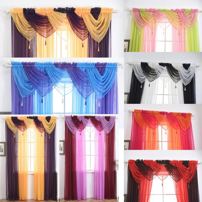 2018 Hot Voile Curtain Swags All Colours Pelmet Valance Net Curtains Swag T1226 From Donaold 2663