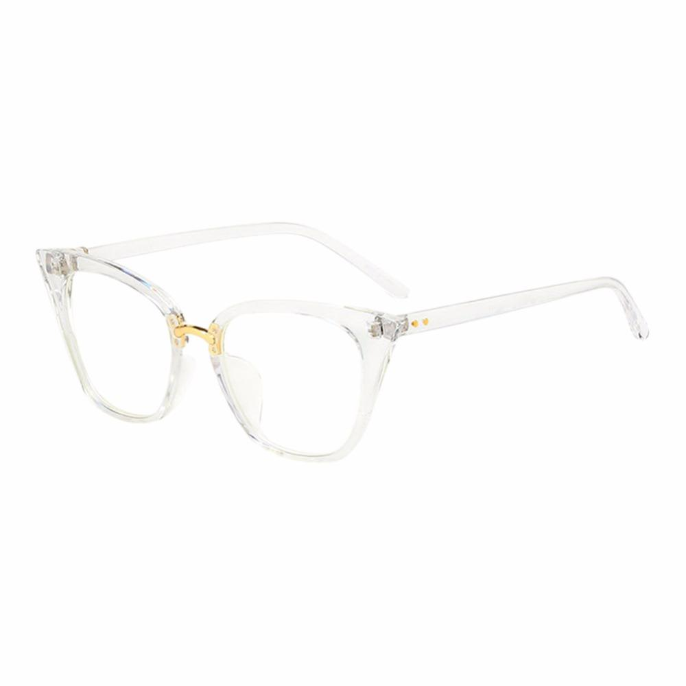 144d69e97c5 2019 Vintage Cat Eye Square Frame Spectacles Unisex Clear Lens Full Frame  Non Prescription Optical Glasses Fashion Outdoor Eyewear From Shuidianba