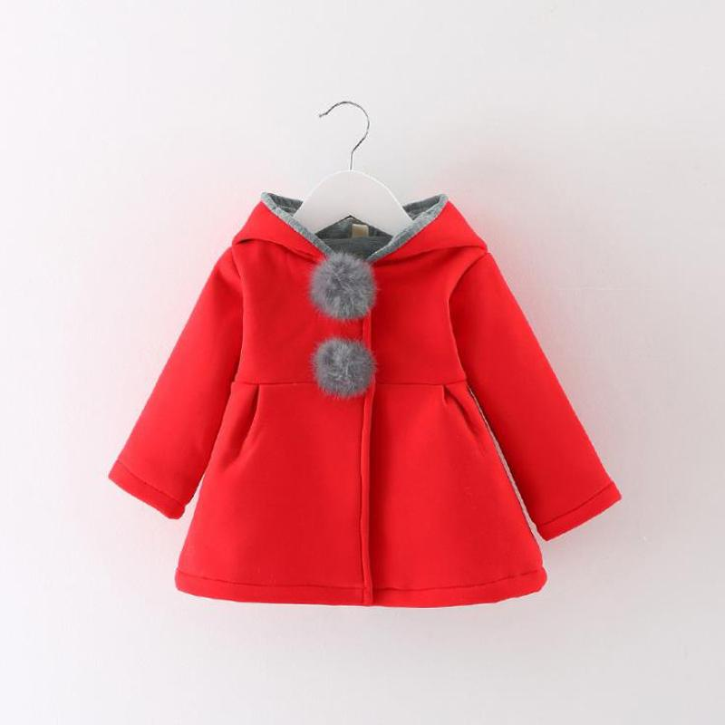 8ce68b115 Newborn Girls Coat Baby Autumn Spring Jacket Kids Infant Rabbit Long Ear  Hoodies Cotton Outerwear Children Clothes For Girl Red Jackets For Boys Girls  Coats ...