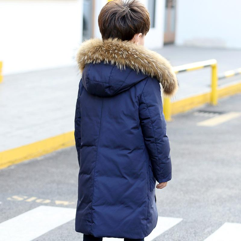 7127dcdaaa3a 2018 New Children Winter Duck Down Boys Thickening Warm Down Jackets Boys  Long Big Fur Hooded Outerwear Coats Kids Jacket Down   Parkas Cheap Down    Parkas ...