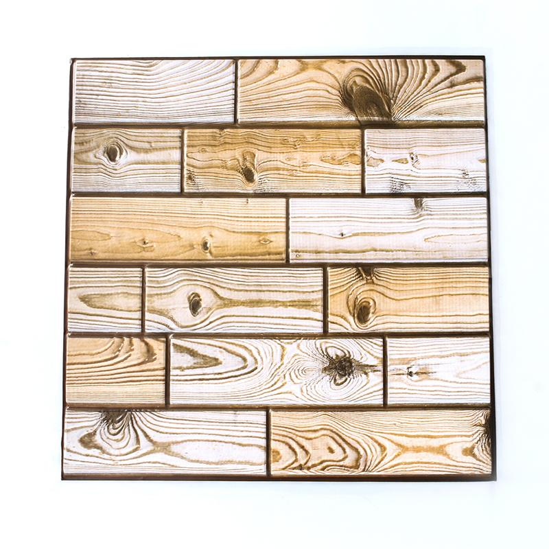 Großhandel 3D Wandpaneele Wohnzimmer PVC Schaum Wand Ziegel Holz ...