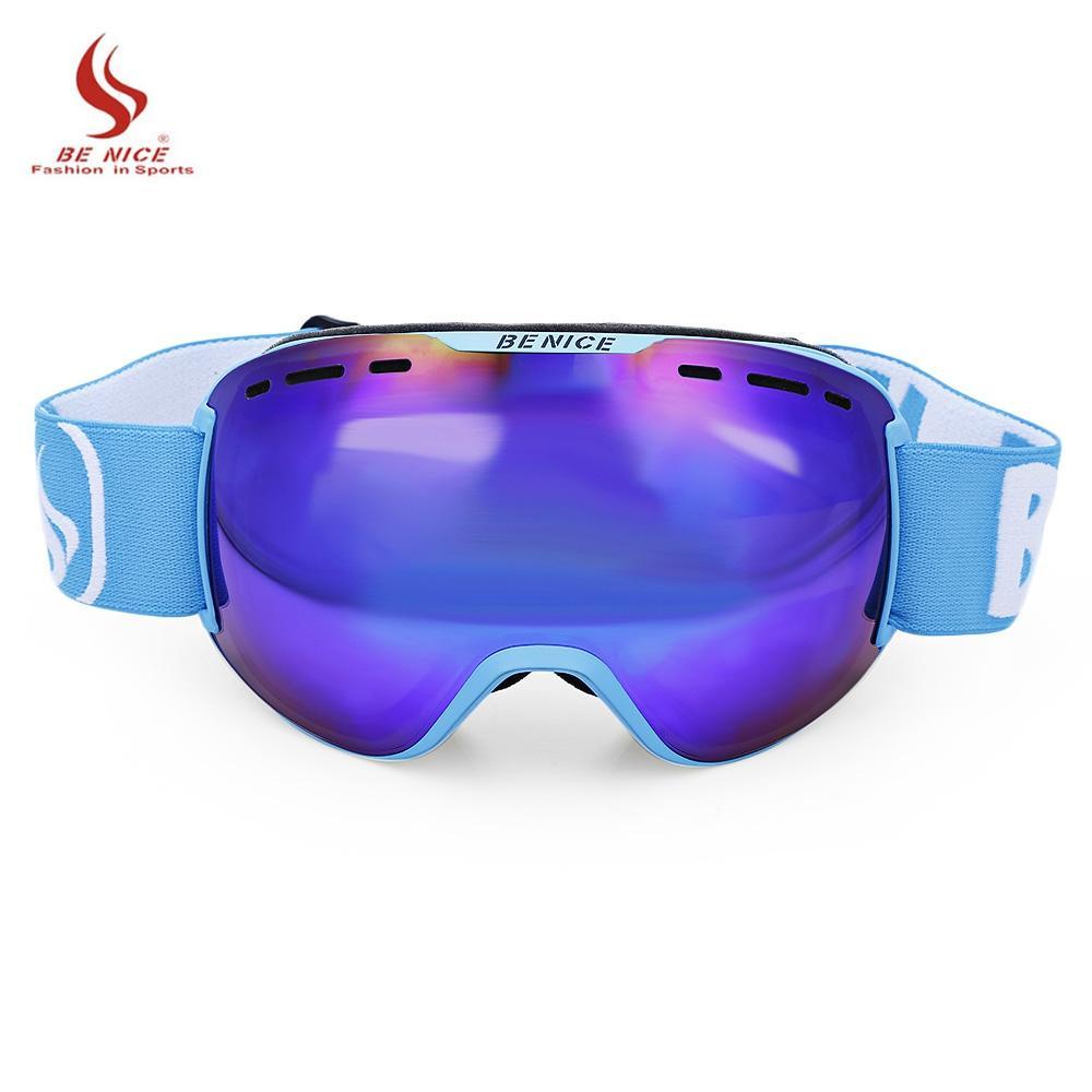 5b34448ddd BENICE Unisex Ski Goggles Glasses Men Women UV Protection Anti-Fog ...