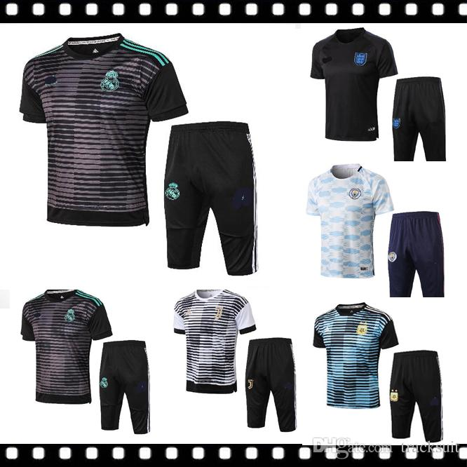 ff513825e 2018 2018 2019 New Real Madrid Soccer Jersey Training Suit 3 4 Pants