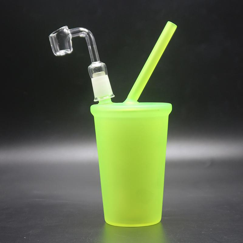 Starbucks Bong di vetro Starbuck Cup McDonald Cup Tubi di acqua in vetro Cheech Tubi di fumo Oil Rigs Dome Nail Mini Glass Bongs Narghilè
