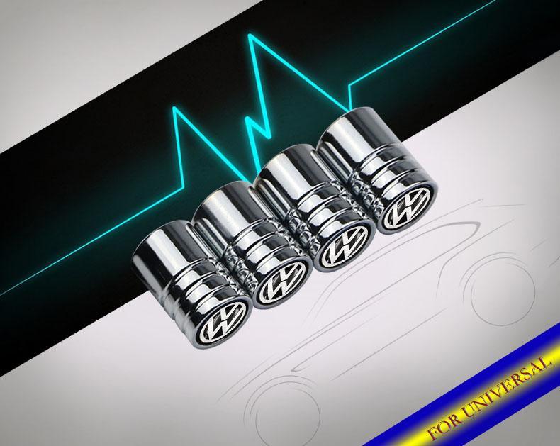 Sport Styling Auto Accessories Car Wheel Tire Valve Caps Case For VW Golf Passat Polo Jetta Tiguan Touareg ect.