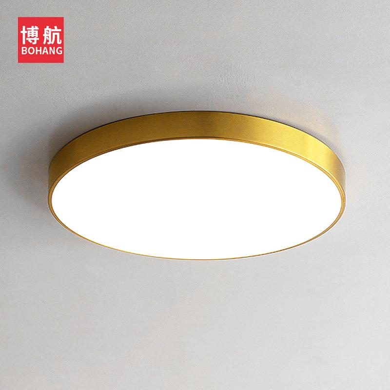 Ceiling Lights & Fans Led Wall Mounted Spotlights All Copper Nordic Simple Downlights Gold Bar Table Living Room Ceiling Free Opening Lamp