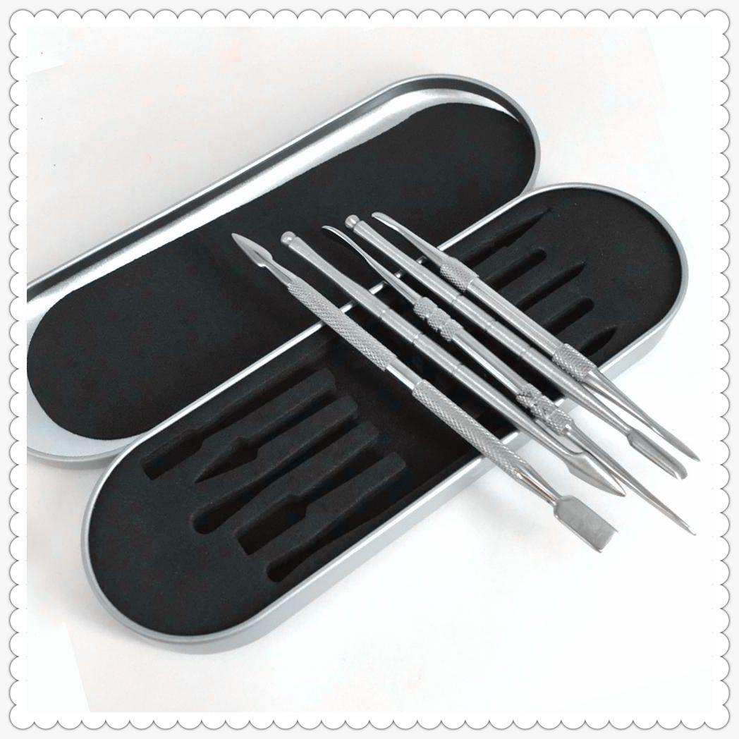 106-121mm dab tool kit Wax dabber tool set Aluminium box packaging vax atomizer titanium nail dabber tool For dry herb vaporizer pen