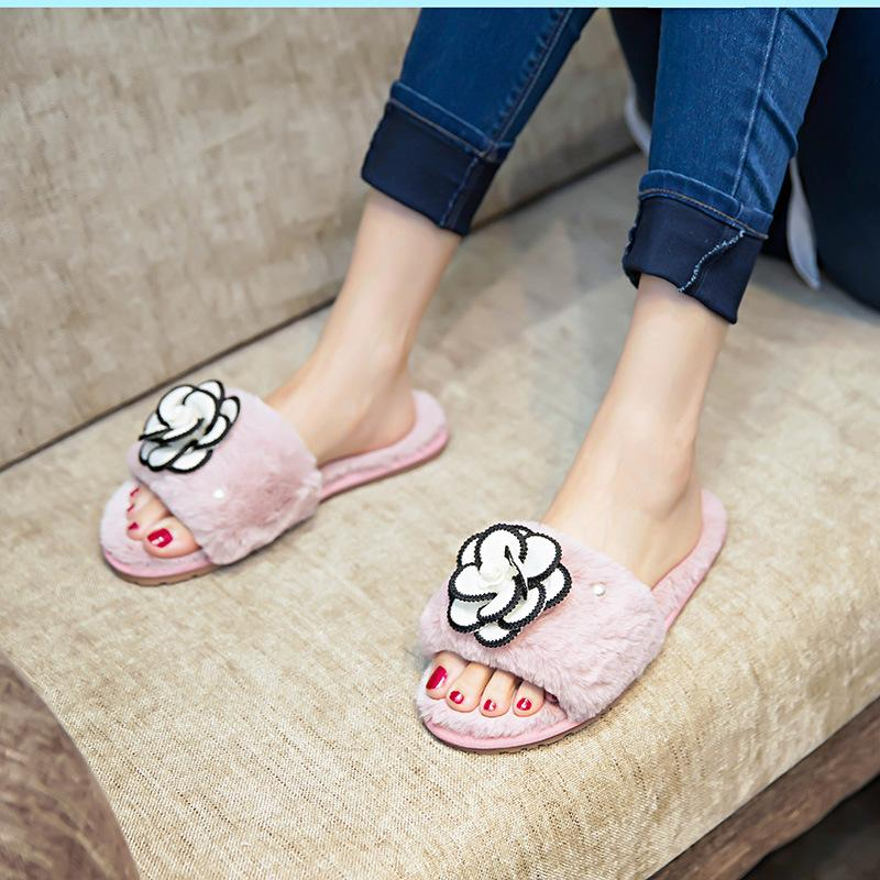 e4fd8a395e65 2018 New Lovely Women Flip Flop Cute Pig Shape Home Floor Soft Stripe  Slippers Female Shoes Girls Winter Spring Warm Shoes Girls Boots Wedges  Shoes From ...