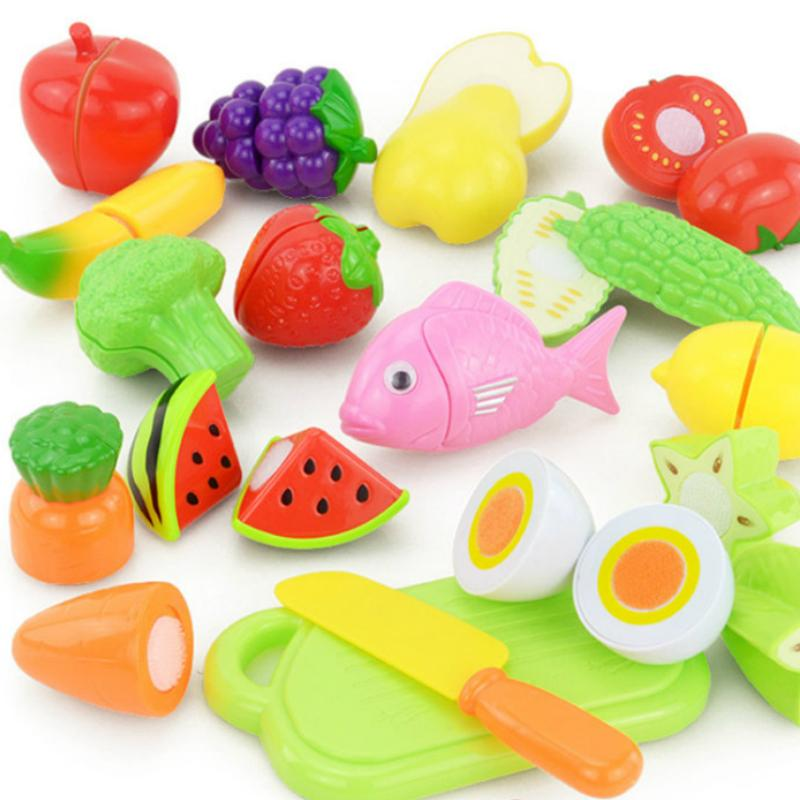 9a308dcf1b1d 2019 Plastic Kitchen Fruit Vegetable Cutting Toys Kids Pretend Play  Educational Kitchen Toys Cook Cosplay Children ZW02 From Luckyno