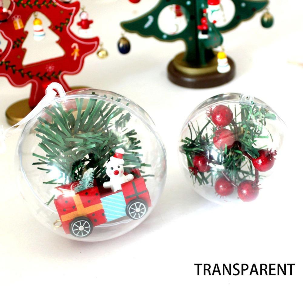 75pcs 4/5cm Clear Christmas Decoration Hanging Ball Baubles Round Bauble Ornament Xmas Tree Home Decor Christmas Tree Xma