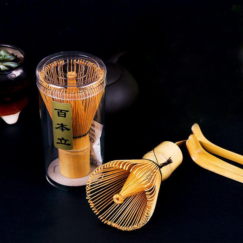 Fashion Hot Natural Bamboo Chasen Matcha Whisk Preparing For Green Tea Powder Chasen Brush Tool for Matcha New ZA4910