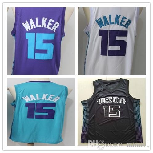 7f68b2ffafce 2018 High Quality Cha Mens 2018 New Season 15 Kemba Walker Jerseys 100% Stitched  Basketball Jerseys White Purple Green S 3xl Fast Shipping From Blue jersey