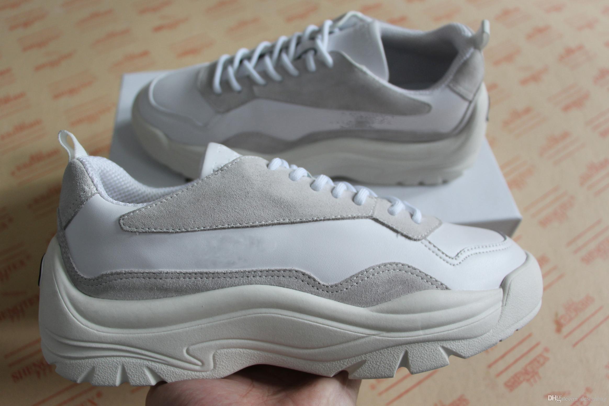 cf46356e24febb Acquista Nuovo Top Qualità Mens Designer Scarpe Designer Sneakers Luxury  Vera Pelle Rosso Nero Casual Asso Scarpe Uomo Donna Taglia Grande 35 46 A  $165.23 ...