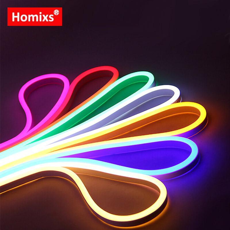 Homixs LED Flexible Strip Light AC 220V 240V SMD2835 LED Neon Flex Tube  120led/m IP68 Waterproof Rope String Lamp EU Power Plug