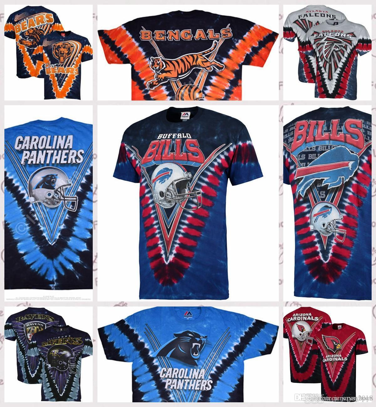 2019 Cincinnati Bengals Atlanta Falcons Chicago Bears Carolina Panthers  Buffalo Bills Majestic Baltimore Ravens Atlanta Falcons Tie Dye T Shirt  From ... b3d4bfb6a