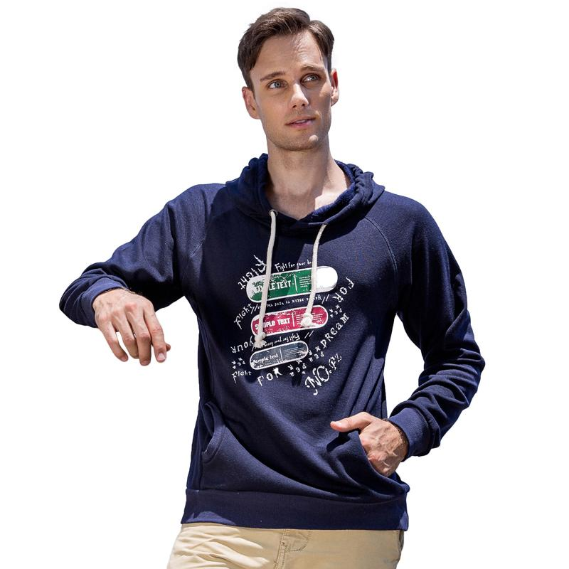 2018 New Spring Autumn Fashion Hoodies Male Large Size Printing Warm Fleece Coat Men Brand Hoodies Sweatshirts 4 Colors