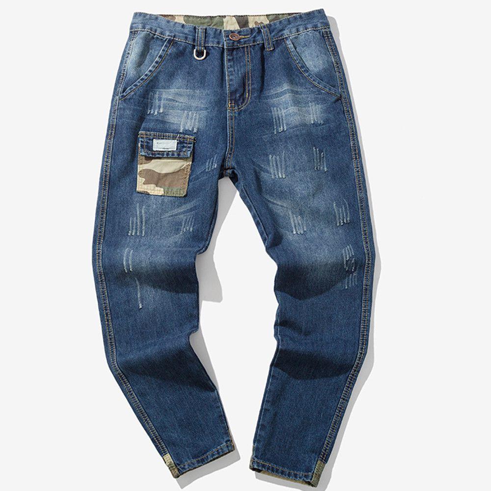 86a7a5632 Compre Sunfree Classic Men Jeans Para Hombre Venta Caliente Envío Gratis  New Trend Para Hombre Skinny Jeans Negro Hombre Flaco 3L55 A  61.9 Del  Odelettu ...