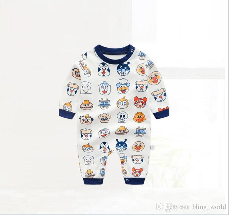 673ab1c05a7 2019 Baby Boys Girls Designer Romper Character Printed Jumpsuit Longs Sleeve  Round Collar Rompers Cartoon Design Jumpsuits Kids Clothes LM78 From ...