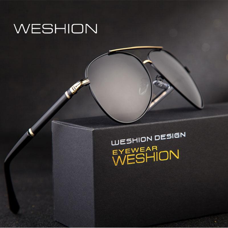 Compre Weshion Gafas De Sol Polarizadas Hombres Mujeres 2018 Retro  Diseñador De La Marca Oval Shades Classic Gafas De Sol De Pesca Uv400  Zonnebril Mannen A ... 767fe6f4f49f