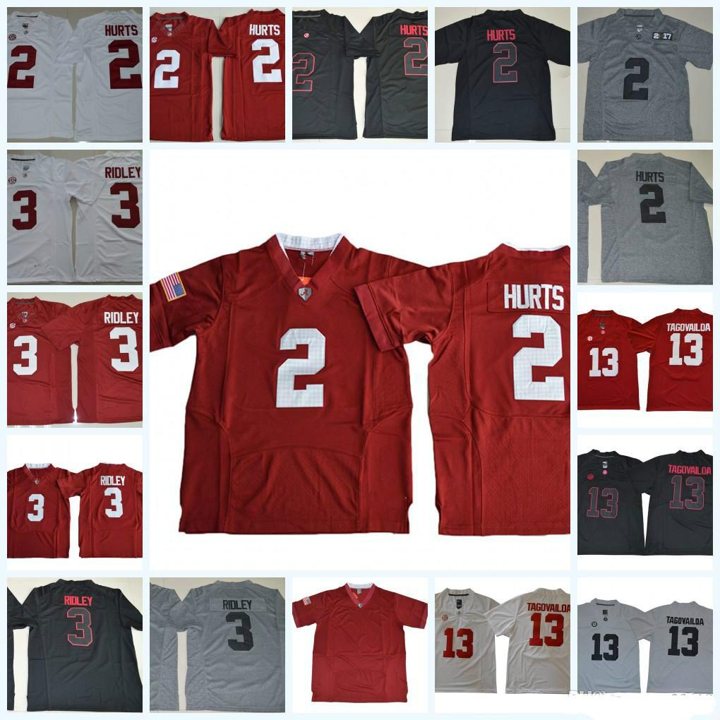 8372d6b6b cheapest mens ncaa alabama crimson tide jalen hurts college football jerseys  blackout ridley tua tagovailoa alabama