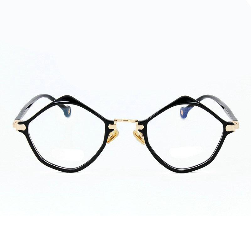 2018 Small Oval Nerd Glasses Frames Clear Lens Unisex Gold Round ...