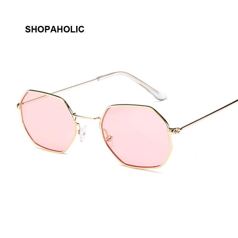 14585508f0 Fashion Sunglasses Women Brand Designer Small Frame Polygon Clear ...