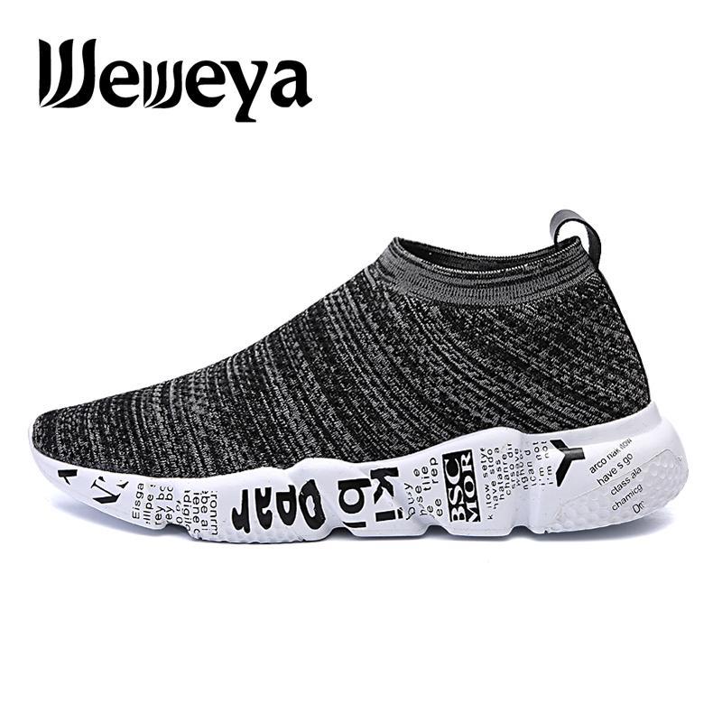 419805301c1 Compre Calzado Ligero Para Hombre Calcetines Calzado Deportivo Transpirable  Cómodo Slip On Sneakers Mens Zapatillas Correr Hombre A  29.67 Del Yiyunwat  ...