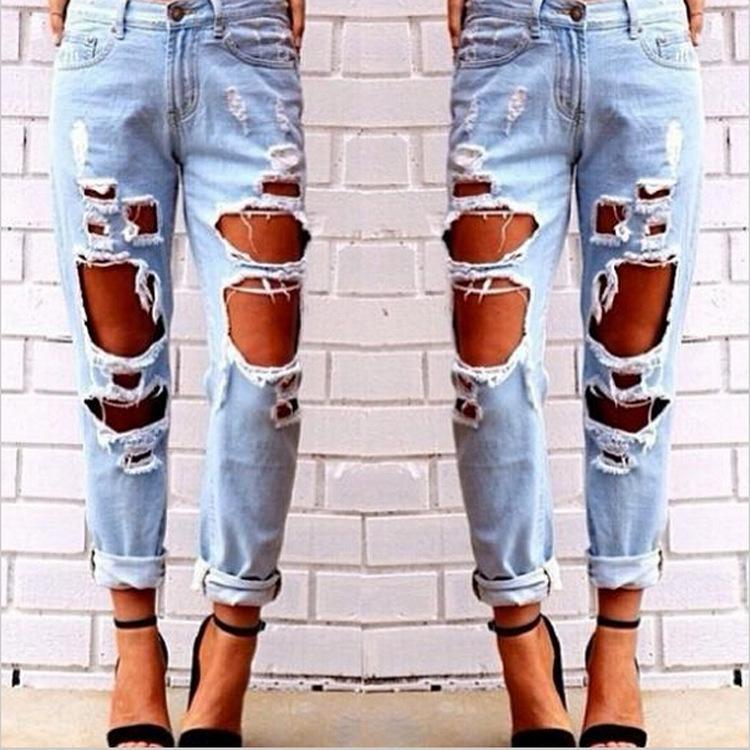 Großhandel Heißer Verkauf Damen Loch Jeans Frauen Wild Sexy Lose Größe  Übertrieben Loch Jeans Knöchel Hosen Von Ellen zeng,  21.61 Auf De.Dhgate. e07722b9df