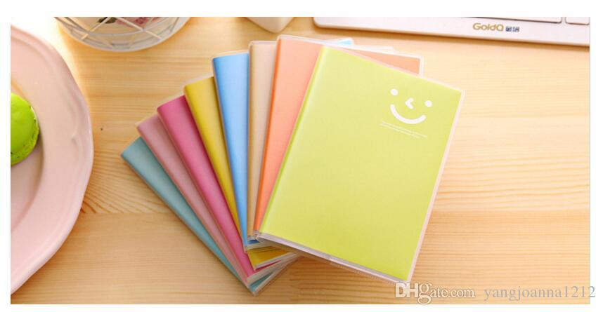 Wholesale Candy Color Smile Notebook For Kids School Office Notepad With Plastic Wrap Students Sketchbook Pocket Notebook