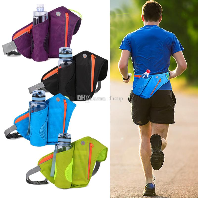 Waist Pack Running Belt with Water Bottle Holder Waterproof Bum Bag Cycling Fanny Pack for Travel Camping Climbing Hiki