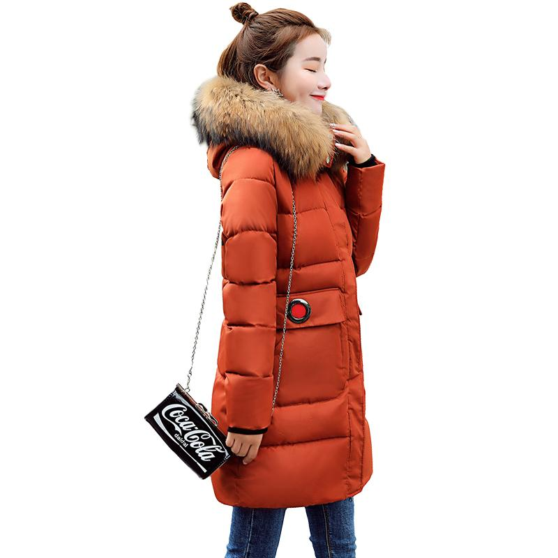 7d9b1e0e1d7 2019 Big Fur Coat Cotton Padded Jacket Girls Warm Winter Jacket Women Down  Parkas Long 2018 New Slim Thick Hooded Female Jacket Coat From Qinfeng10