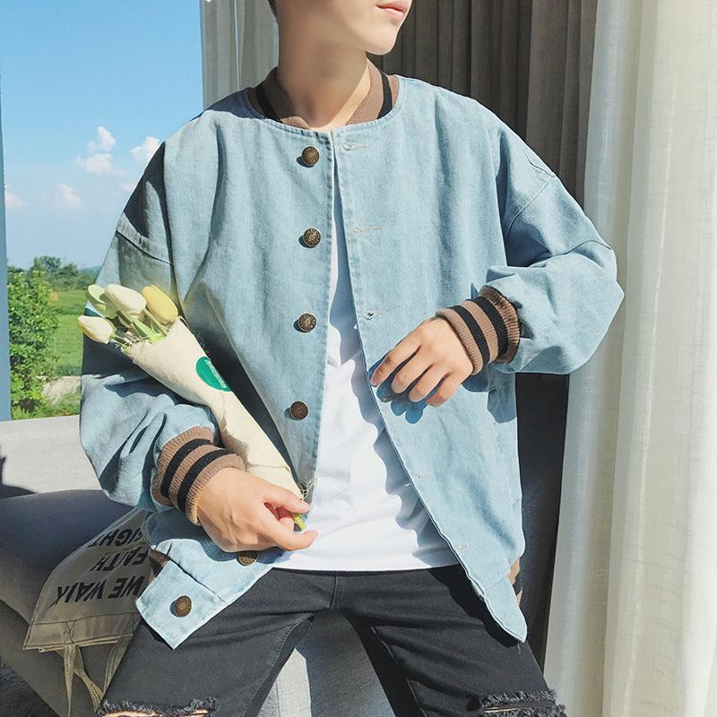 Fashion Casual Men S Denim Jacket Spring And Autumn New M 2xl Solid