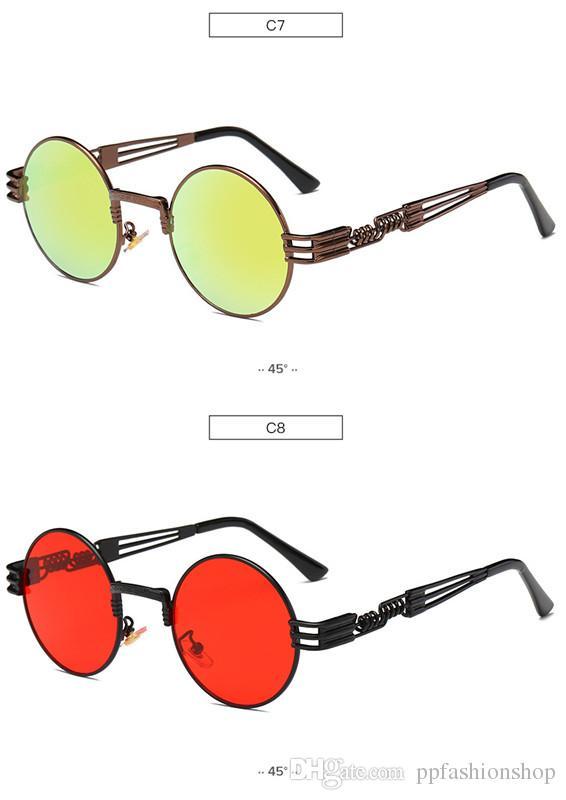 Vidano النظارات البصرية جولة المعادن steampunk الرجال النساء أزياء النظارات العلامة التجارية مصمم ريترو خمر النظارات uv400