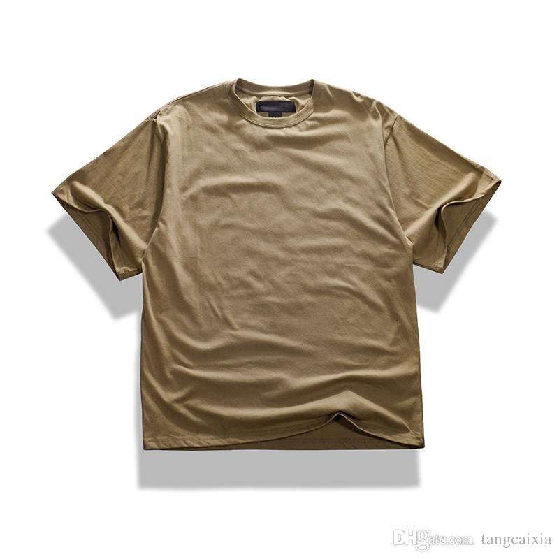 Atacado Frete Grátis Moda Hip Hop Homens 100% Algodão de Grandes Dimensões Ombro Gota Camuflagem Do Exército T Camisa Tee Tops