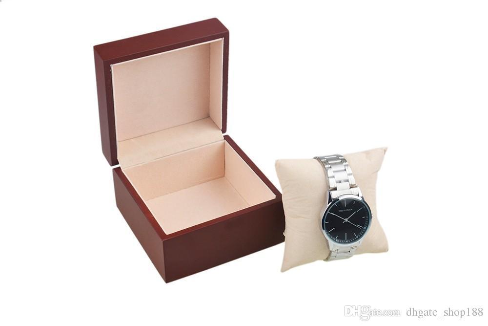 Cassa cuscino in flanella scatola di orologi in legno antico finitura opaca orologi Scatola organizer orologi Meglio di scatole orologi gioielli